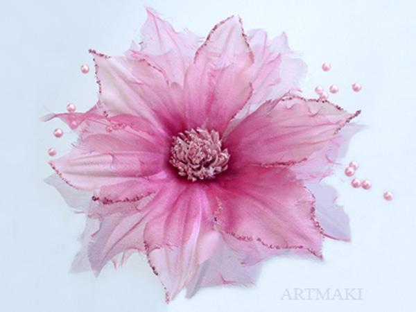Лилии из органзы мастер класс фото